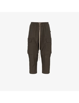 Drawstring Cropped Trousers by Rick Owens