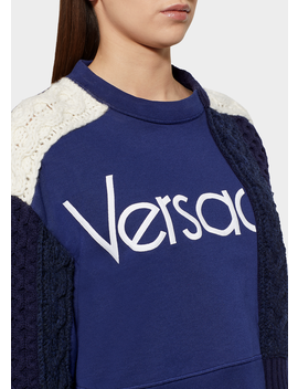 Versace Vintage Logo Demi Felpa Sweater by Versace