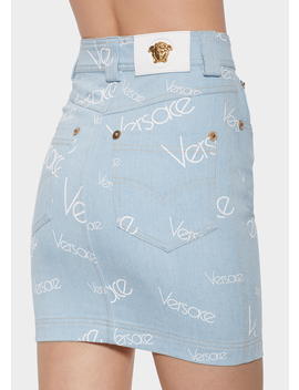 Vintage Logomania Mini Skirt by Versace