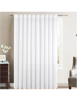Charlton Home Katarina Solid Semi Sheer Rod Pocket Single Curtain Panel by Charlton Home
