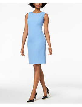 Stretch Crepe Sheath Dress, Regular & Petite by Kasper