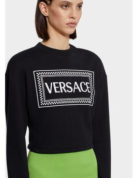 Versace 90s Vintage Logo Sweatshirt by Versace