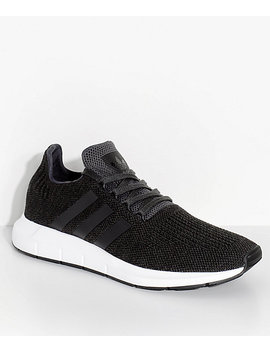 Adidas Swift Run Black & White Shoes by Adidas