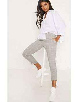 Grey Check Trouser by Prettylittlething
