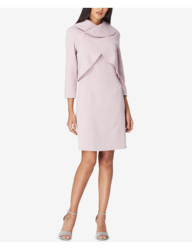 Envelope Collar Jacket & Dress Suit by Tahari Asl