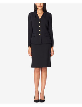 Reverse Pleat Skirt Suit by Tahari Asl