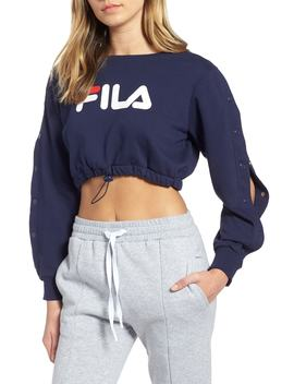 Snap Sleeve Crop Sweatshirt by Fila