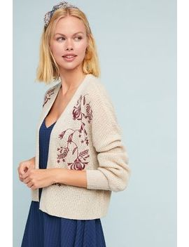 Fiore Embroidered Cardigan by Moth