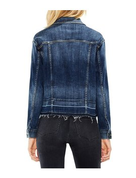 Two By Vince Camuto Frayed Hem Denim Jacket by Generic
