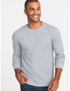 Soft Washed Thermal Knit Crew Neck Tee For Men by Old Navy