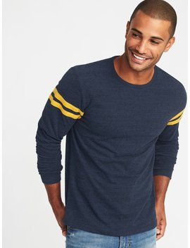 Soft Washed Slub Knit Crew Neck Tee For Men by Old Navy