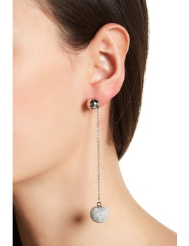 High Shine Pompom Drop Earrings by Rebecca Minkoff
