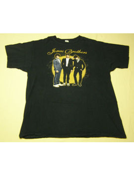 Jonas Brothers 2008 Concert Tour T Shirt Black Size L by Anvil