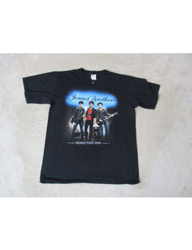 Jonas Brothers Concert Shirt Adult Medium Black 2009 Band Tour Nick Jonas Mens by Anvil