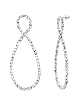 Crystal Glass Double Teardrop Twist Earrings by Steve Madden
