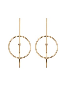 Interlocked Circle Earrings by Leslie Danzis