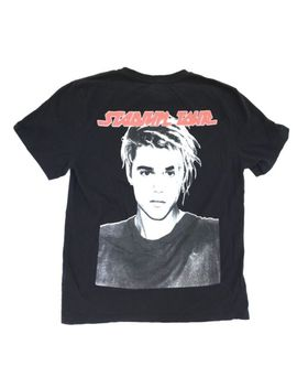Authentic Justin Bieber X H&M Stadium Team Tour T Shirt Black Us Size Large Euc by H&M