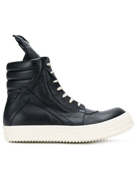 Rick Owens Geobasket Hi Top Sneakershome Men Rick Owens Shoes Hi Tops by Rick Owens