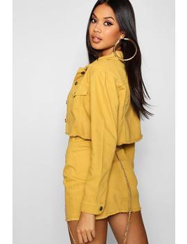 Mustard Denim Jacket by Boohoo