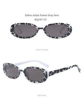 Women Hotsale Fashion Summer Unique Colors Small Oval Sunglasses Personality Sexy Cosy Shades Sun Glasses Uv400 Oculos De Grau by Perfe