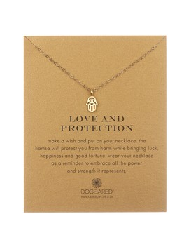 14 K Yellow Gold Vermeil 'love & Protection' Cutout Hamsa Hand Pendant Necklace by Dogeared