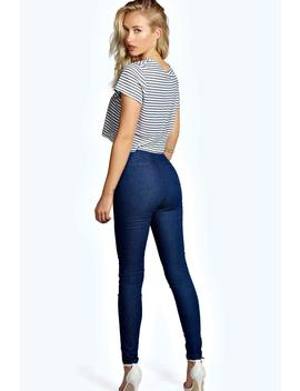 High Waisted Skinny Jeans by Boohoo