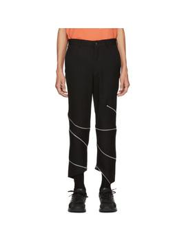 Black Wool Zipper Trousers by Comme Des GarÇons Homme Plus