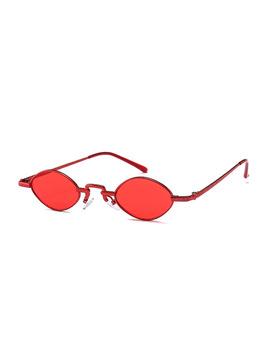 Buke Luxury Vintage Oval Sunglasses Women Brand Designer Sun Glasses Retro Small Red Ladies Sunglass Vu400 Eyewear Oculos  by Buke