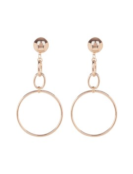 Mega Statement Chain Drop Hoop Earrings by Shashi