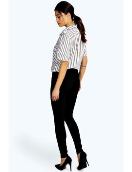 High Waisted Skinny Tube Jeans by Boohoo