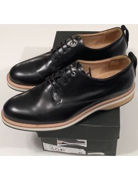 Nib Want Les Essentiels Men's Montoro Derby Black Leather Dress Shoes Size Us 11 by Want Les Essentiels
