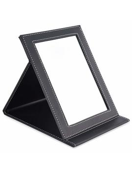 Tasipa Folding Tabletop Makeup Mirror, Desktop Mirror,Vanity Mirror Pu Leather Cover (Large) by Amazon