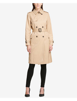 Double Breasted Belted Trench Coat by Dkny