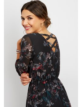 Double X Back Floral Dress by Maurices