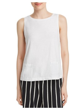 Organic Cotton Pocket Tank by Eileen Fisher
