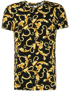 Baroque Leaf T Shirt by Versace