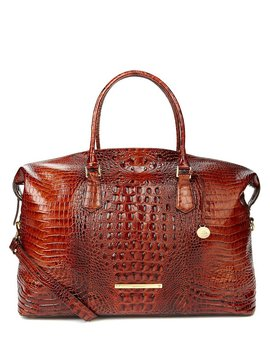 Brahmin Melbourne Collection Duxbury Crocodile Embossed Weekender by Generic