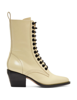 Yellow Lace Up Boots by ChloÉ