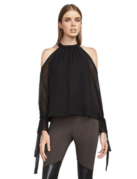 Fatima Cold Shoulder Halter Top by Bcbgmaxazria