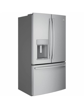 Profile Series 22.2 Cu. Ft. French Door Counter Depth Refrigerator   Stainless Steel by Ge