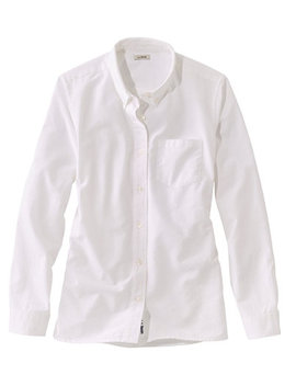 Lakewashed Organic Cotton Oxford Shirt by L.L.Bean