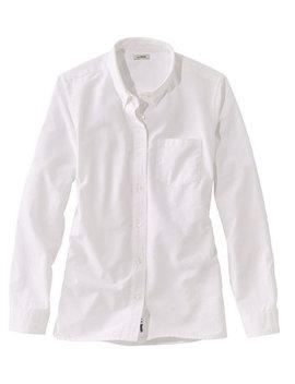 Lakewashed Organic Cotton Oxford Shirt by L.L.Bean
