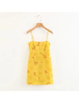 2018 Fashion Sun Flower Bra Slim Slim Short Dress by Ali Express