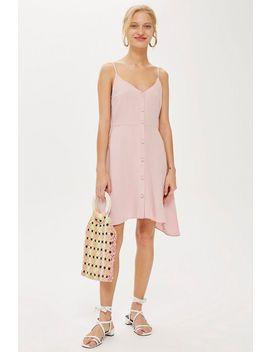 Tall Button Through Mini Dress by Topshop