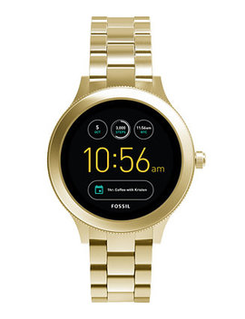 Q Women's Venture Gen 3 Gold Tone Stainless Steel Bracelet Touchscreen Smart Watch 42mm by Fossil
