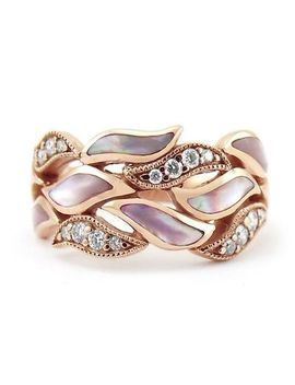 18 K Rose Gold Filled White Pink Sapphire Women Wedding Party Ring Gift Size6 10 by Unbranded