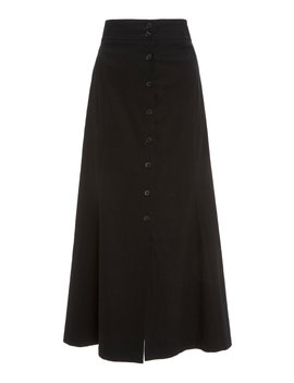 Amelie High Waist Button Front Midi Skirt by A.L.C.