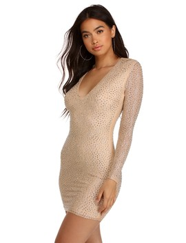 Elise Heatstone Glamour Mini Dress by Windsor
