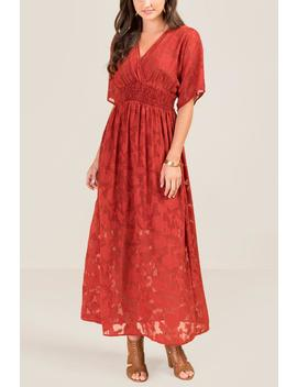 Farah Kimono Sleeve Maxi Dress by Francesca's