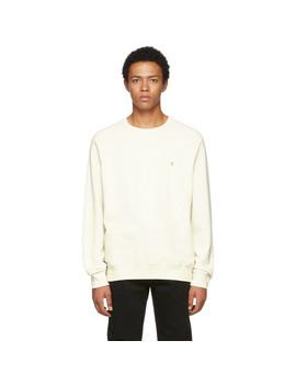 White 'f' Raglan Sweatshirt by Frame